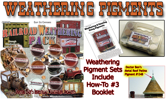 Doctor Ben's Armor//Military Weathering Pigment Sampler Set /& Booklet