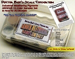 11-Color Armor/Military/Auto Weathering Pigment Sampler Set  & Booklet-Doctor Ben's Scale Consortium-Multi Scale
