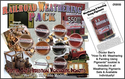 "Doctor Ben's      ""How-To #3: Weathering & Painting Using Pigments"" booklet is Included in all Weathering Pigments Sets & Available Individually!"
