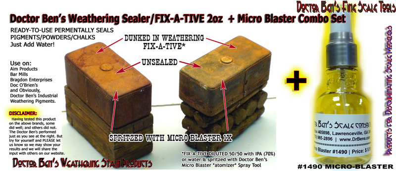 Weathering Sealer/Fix-A-Tive Combo Set-Doctor Ben's Scale Consortium