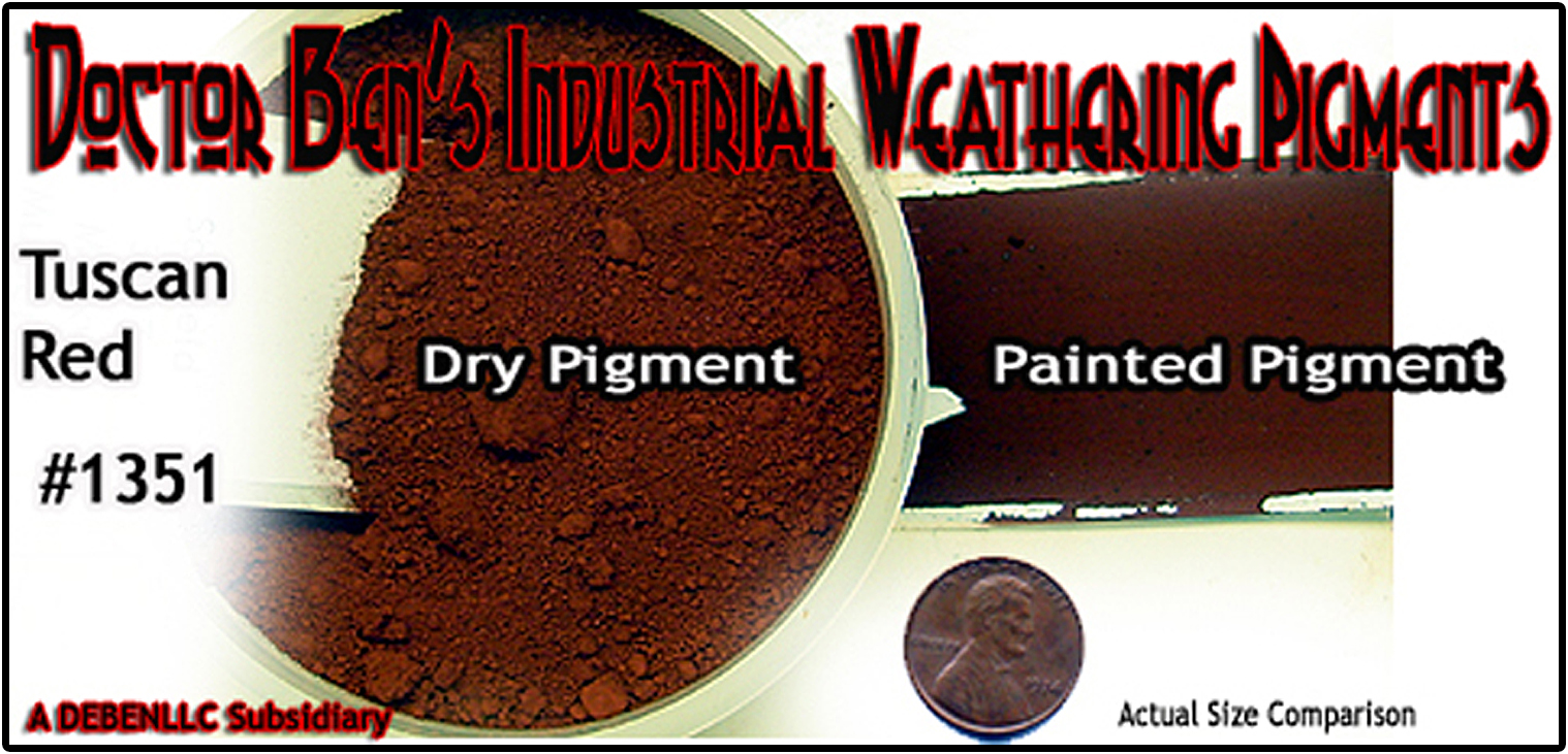 Tuscan Red Weathering Pigment-2oz Doctor Ben's Scale Consortium
