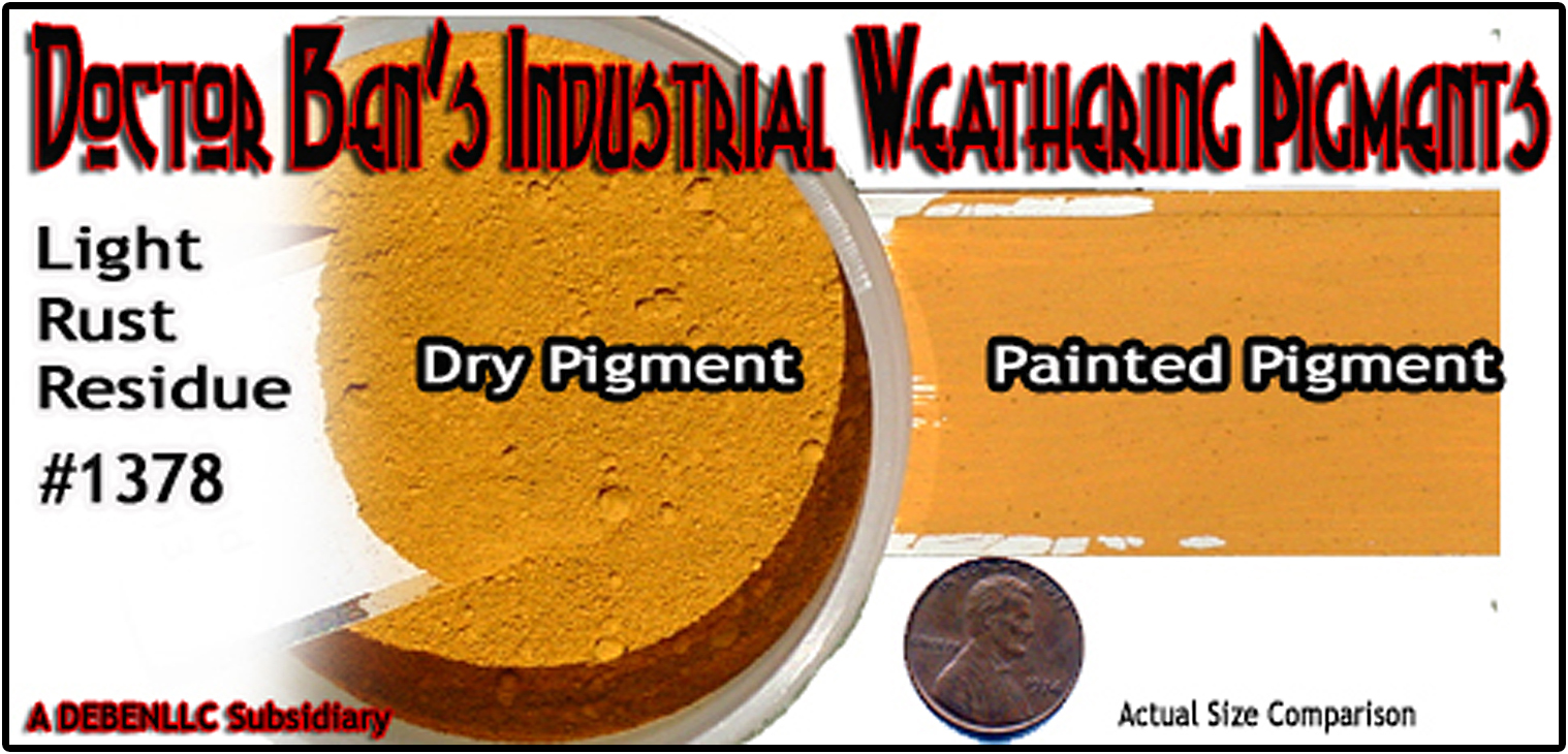 Light Rust Residue Weathering Pigment-2oz Doctor Ben's Scale Consortium