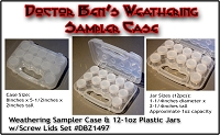 Weathering Sampler Case & 12-1oz Plastic Jar w/Screw Lid Set  - Doctor Ben's Scale Consortium