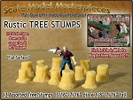 Rustic Tree Stumps-Assorted Straight 12pcs Scale Model Masterpieces HO/1:87