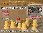 Rustic Tree Stumps-Assorted Straight 12pcs Scale Model Masterpieces N/1:160
