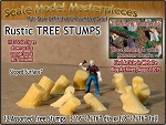 Rustic Tree Stumps-Assorted Sloped 12pcs Scale Model Masterpieces HO/1:87