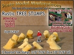 Rustic Tree Stumps-Assorted Sloped 12pcs Scale Model Masterpieces N/1:160
